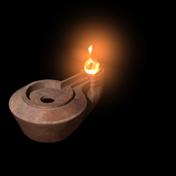 lucerna ad olio - epoca romana