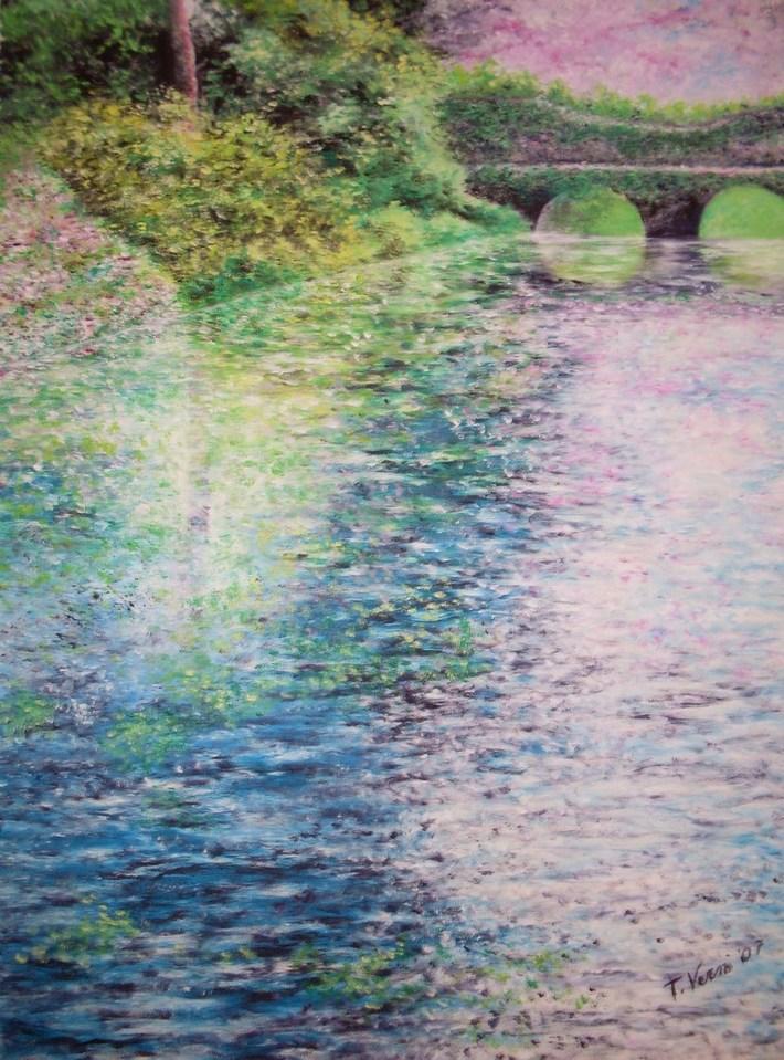 2007- Paesaggio con ponte (70x100- olio su tela)