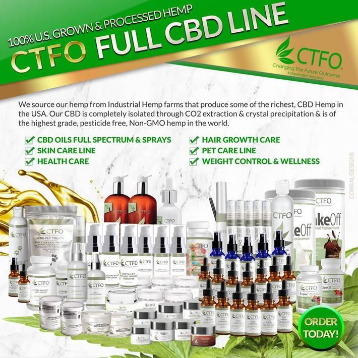 CTFO CBD FULL CBD PRODUCT LINE PIC