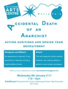 Auditions for Accidental Death of an Anarchist by Dario Fo