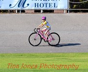jacinta christening her track bike at edwarston