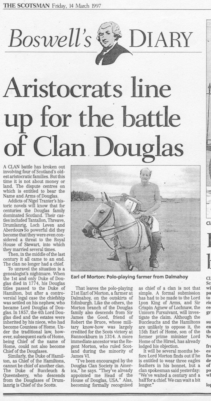 Head of Clan Douglas