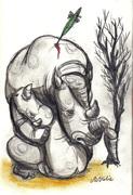 La dernière femelle de la race des rhinocéros blancs est morte
