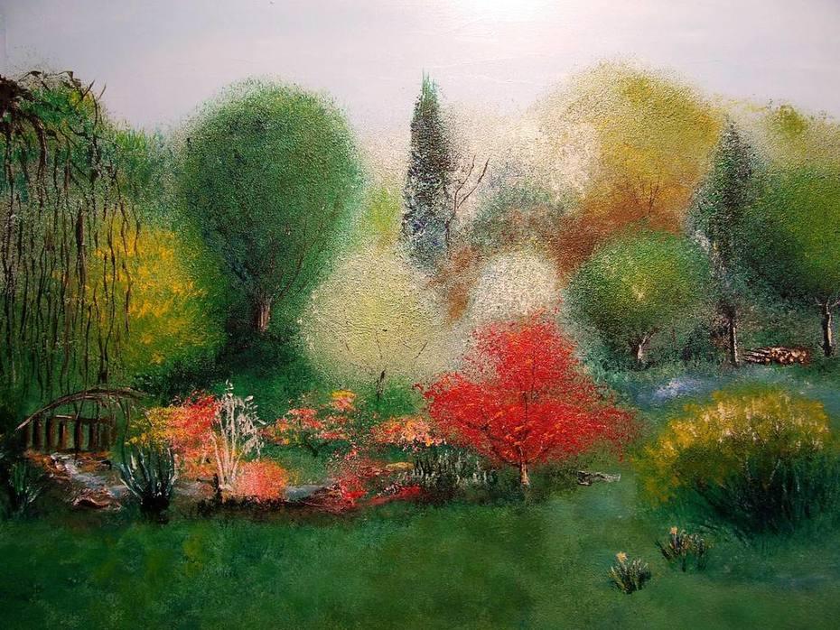Botanica 5 vue de la maison aux fleurs au printemps - Arts et Lettres
