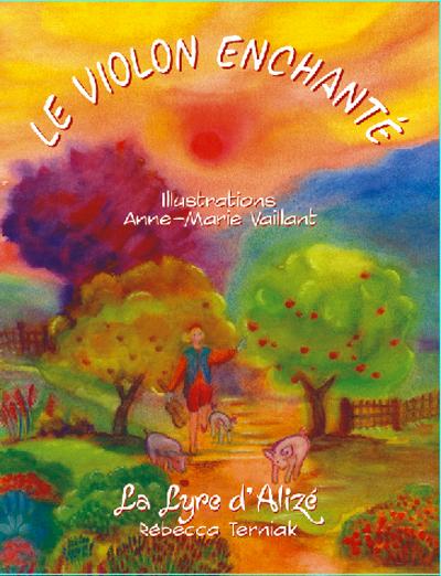 Le violon enchanté - couverture - premier livre de Rébecca Terniak