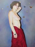 La jeune fille aux papillons