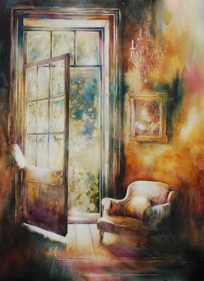 """L'appel du jardin"".2014.57x42.Corinne Izquierdo."