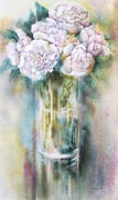 """Vase pivoines blanches"".Corinne Izquierdo"