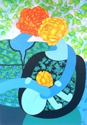 Couple de roses avec enfant