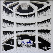 Monster Opera- Cut Art -97x97 cm