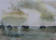 Ambiance marine - aquarelle