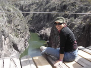En el río Huápoca en Madera, Chihuahua