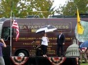 tea party express and Romney visit