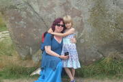 rhiannon and me at avebury this august2010