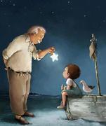 senhor, menino e estrela