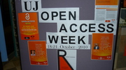 UJ Open Access Display at APK Library