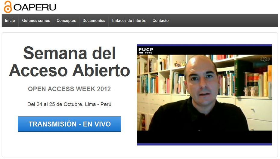 Open Access Week - Peru 2012