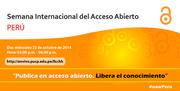 Semana Internacional del Acceso Abierto - Perú 2014