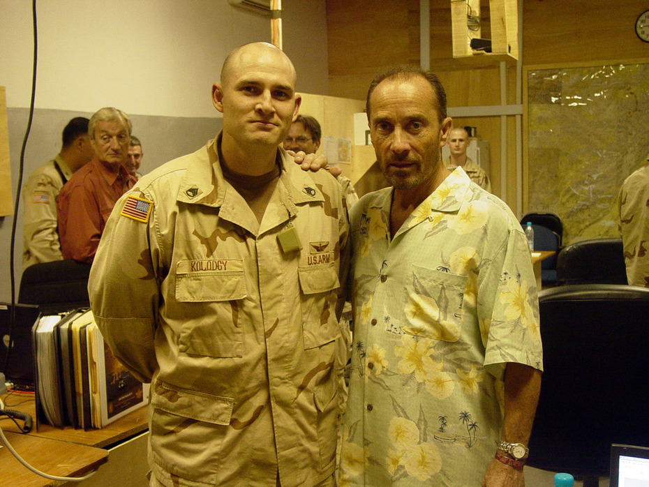 Lee Greenwood visit to Bagram  2003