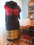 Almost finished Laotian brocade skirt (Burdastyle Jenny)