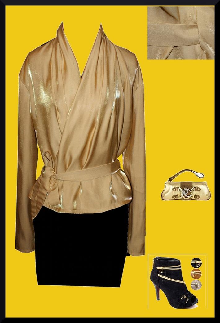 Golden Wrap top