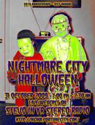 Nightmare City Halloween Fliers