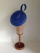 Cobalt Blue Straw Beret-Look Headpiece by Murley & Co Millinery