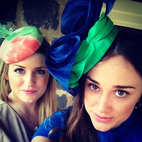 Millinery Photoshoot - models selfie!