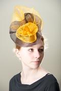 Chocolate Tangerine Headpiece Women Special Occasion
