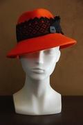 burnt orange fedora hat for women