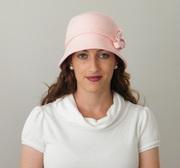 Cloche winter hat by Rana Hats Israel