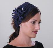 blues straw headband