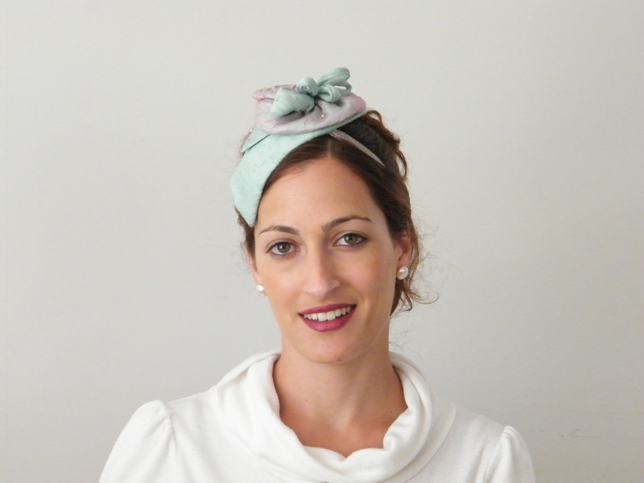 Pastel cocktail hat for a special event