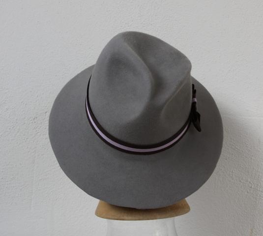 Fedora Silver, grey Women Hat millinery Fur Felt