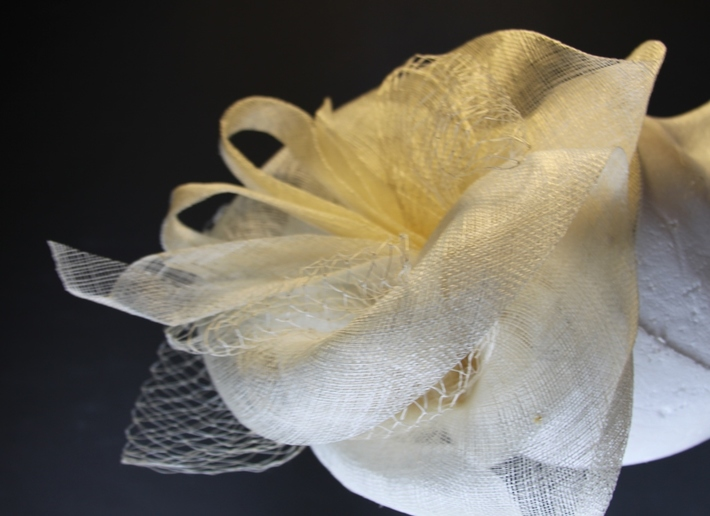 Ivory Special Occasion Percher Fascinator Women Hat Millinery