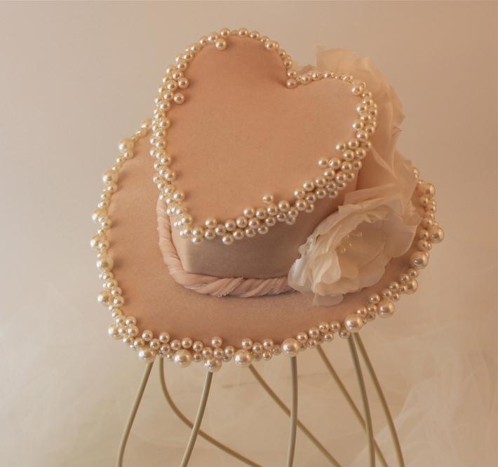 Heart Shaped Mini Top Hat