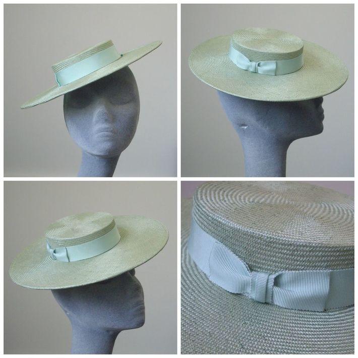 Sampling- Green Straw Sailor Hat Collage