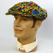 Newsboy Style Cap Hat - Vintage Multi-Color Silk Stehli Fabric