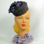 Smoky Lavender Pillbox Hat