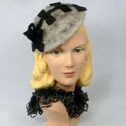 Angora Fur Felt Hat Fascinator