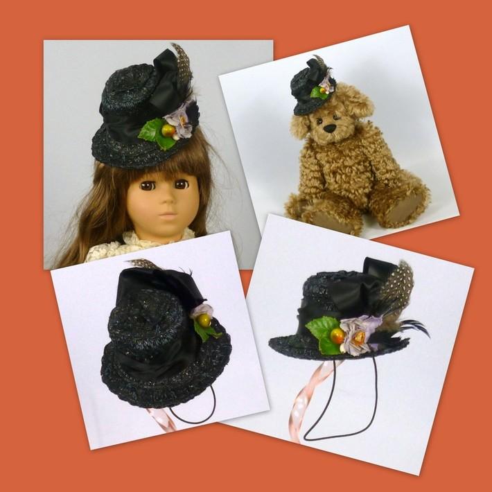 Doll or Teddy Bear Straw Top Hat