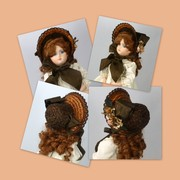 Reproduction Vintage Straw Doll Bonnet