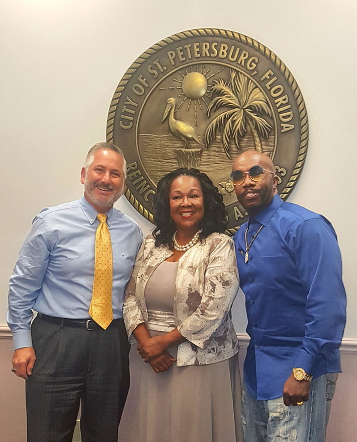 Paul Anthony and Jai Hinson with The Mayor of St. Petersburg, Florida   Rick Kriseman...