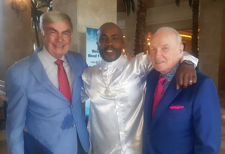 Paul Anthony with With fellow Moffit Board Members Sam Donaldson and Phil Jones.