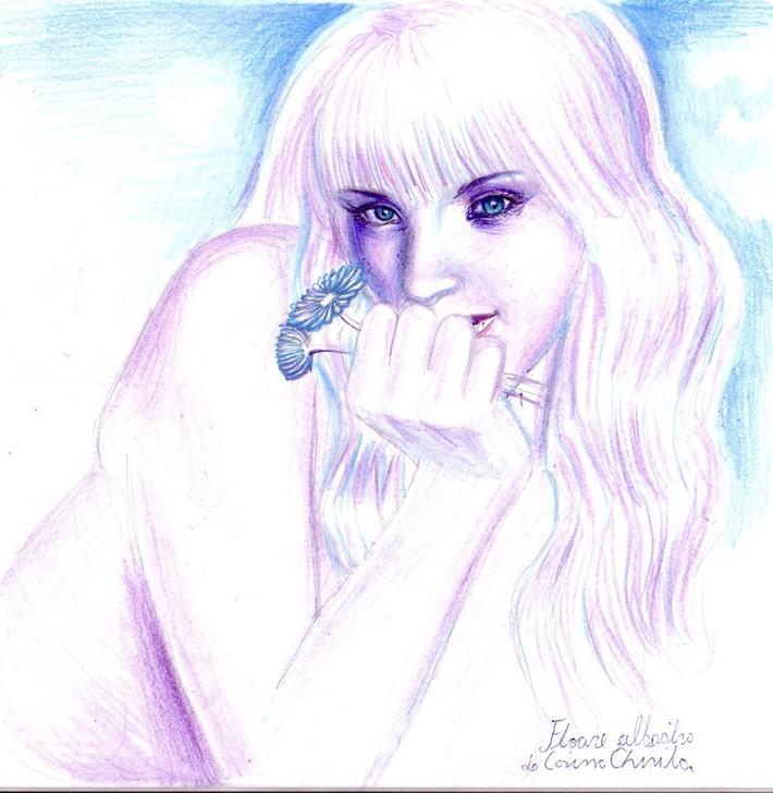 Floare albastra-04 desen