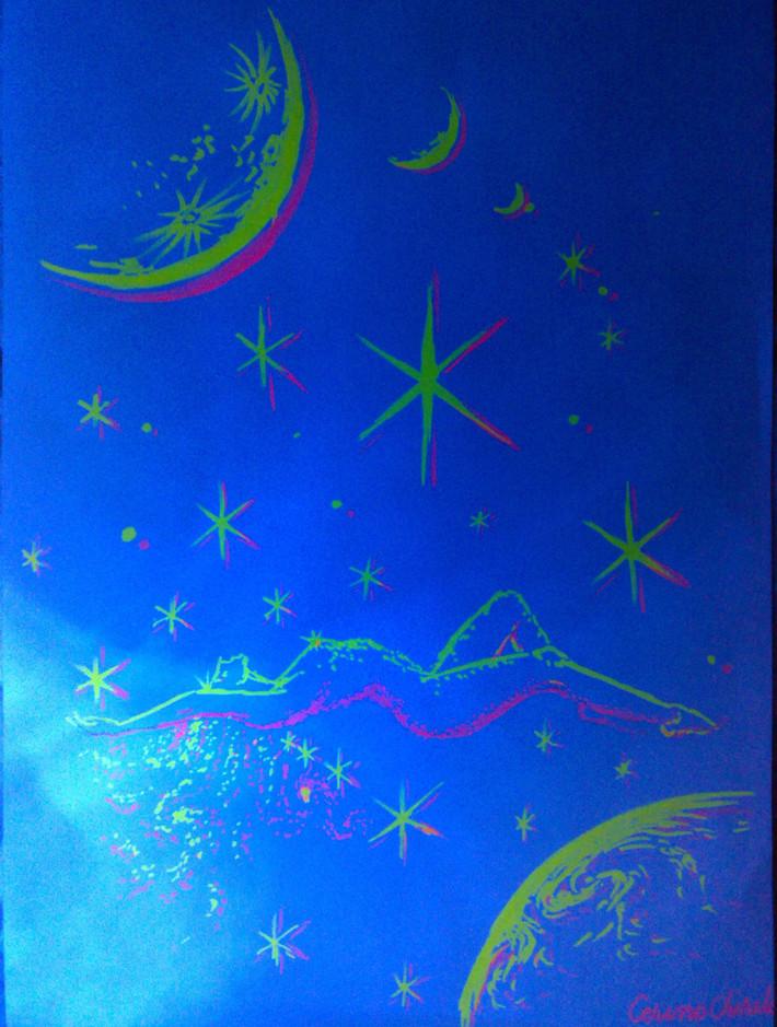 femeie-intre-stele-si-stea-intre-femei-desen-cu-culori-fluorescente