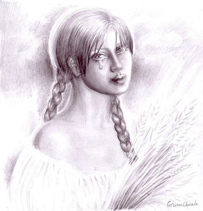 Simina sau Padurenca lui Ioan Slavici desen in creion