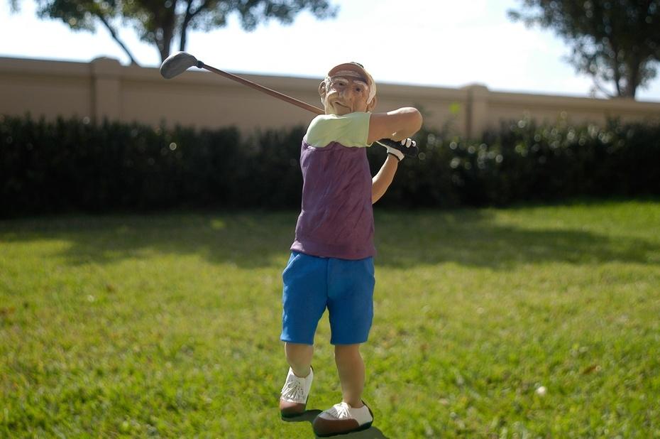 Golf Sculpture for a Fundraiser