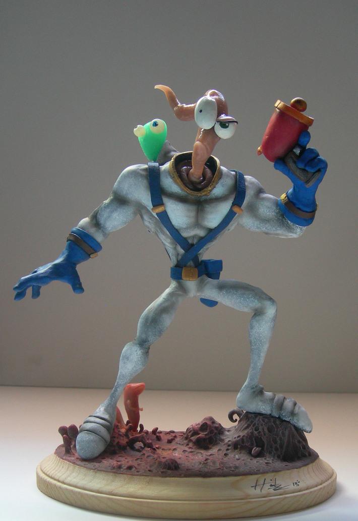 Earthworm Jim sculpture
