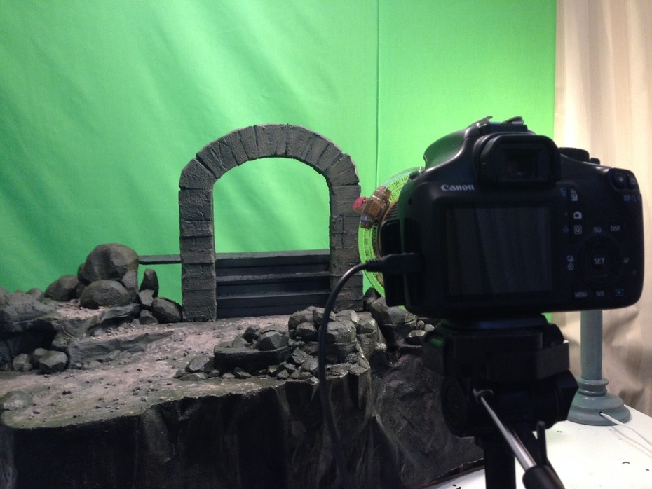 The set and Camera